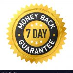 7 day money back guarantee label
